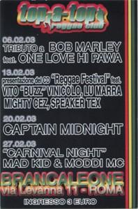 """Presentazione Compilation """"Reggae Festival"""" a Roma - Brancaleone 2003"""
